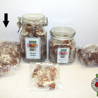 Maple Drops (Hard Candy), Bag, 100 pcs