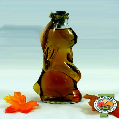 A rabbit-shaped bottle of Vermont maple syrup